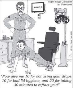 Discipline for not following recommended eye care