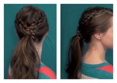 Easy Bohemian Ponytail - Back to School Updos 5