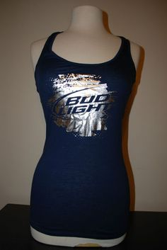 New Bud Light Beer Silver Logo Navy Tank Theory Original Artifacts Color   Navy Blue 100 7c90ccb481df