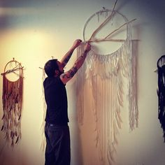 Dream catchers by Hitomi Matarese and Charlie Walker of Electric Love.