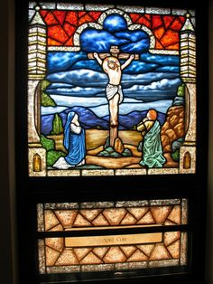 """New Stained Glass Window """"Crucifixion"""""""