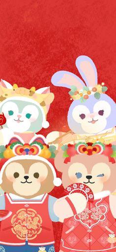Disney Parks, Walt Disney, Duffy The Disney Bear, Tokyo Disney Sea, Disney Wallpaper, Pikachu, Hello Kitty, Bunny, Iphone Wallpapers