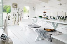 Dreamy dining room with natural lighting ♡ My Home Design, House Design, Blog Deco, Coastal Homes, Cozy Living, Scandinavian Interior, Tiny House, Boat House, Home Projects