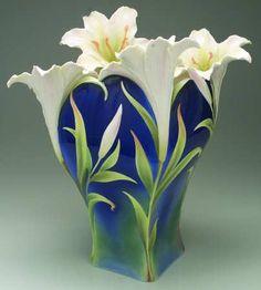 Franz Collection Giftware Lily Vase - Boxed by Franz Collection Flower Vases, Flower Art, Arreglos Ikebana, Vase Transparent, Vase Deco, Vase Design, Paper Vase, Tissue Paper, Wooden Vase