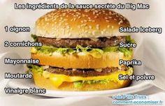 Vos enfants vous réclament trop souvent d'aller au McDo ? Mais il n'y a rien de meilleur qu'un hamburger cuisiné maison avec de bons produits ! Voici, enfin révélée, la recette de la sauce secrète du Big Mac, comme chez McDo. Après des années d'attente, vous allez pouvoir faire chez vous de bons Big Mac, pour le plus grand plaisir de vos enfants. Regardez :