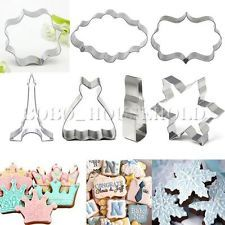 Xmas Stainless Steel Cookie Cutter Biscuit Jelly  Gingerbr Fondant Cake Mold DIY