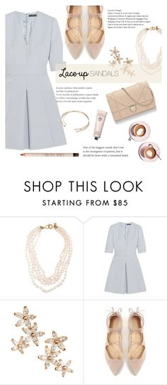 """""""Untitled #563"""" by millilolly ❤ liked on Polyvore featuring J.Crew, Alexander McQueen, Bonheur, Martha Stewart, Bobbi Brown Cosmetics, contestentry, laceupsandals and PVStyleInsiderContest"""