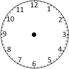 Printable Clock Templates | Blank Clockface: Without Hands
