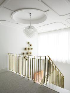 brass stair railing...