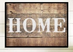 Home Wood Sign Rustic Wood Home Sign Framed Wood Sign Rustic Wall Decor Home Farmhouse Wall Decor House Rustic Home Decor Gift For Her Print