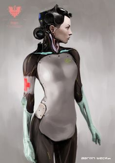 """rhubarbes: """" Aaron Beck for Elysium. """" More robots here."""