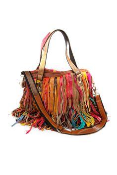 Fringe Multi Color Handbag