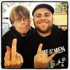 Stephen King giving the finger