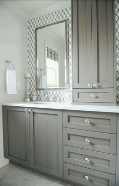 Bathroom Vanity Light Off Center gray vanity - off center sink with lots of counter space | tubby
