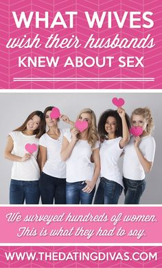 There are plenty of things I wish my husband knew - these nailed it on the head when it comes to sex! www.TheDatingDivas.com