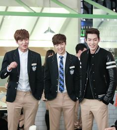 Lee Min-ho, Kang Min-hyuk and Kim Woo-bin Heirs Korean Drama, Korean Drama Stars, Korean Drama Movies, Korean Star, The Heirs, Korean Men, Korean Dramas, Heirs Cast, Choi Jin Hyuk