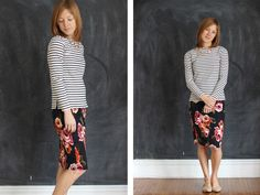 In Residence: wearing lately: floral pencil skirt remix