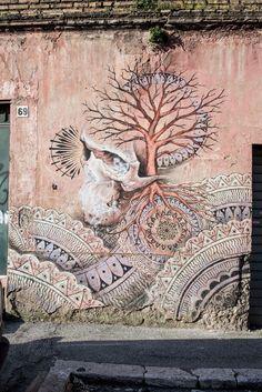 StreetArtRoma: Senza Titolo   Beau Stanton   2013   Zona: Quadraro   #art #streetart #roma
