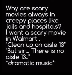 SCARY MOVIES - Funny Pictures at Walmart  - Best funny, pics, humor, jokes, hilarious, quotes