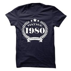 Vintage 1980 Aged to perfection Birthday tee shirt #tee #Tshirt