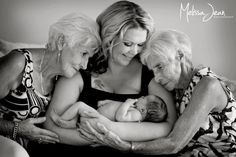 Four generations of beautiful, strong women.