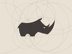 Rhino- would be interesting to do a series of animals made out of the filled in spaces between circles