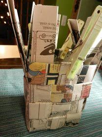 punos-sidos-silmukka: Tätä et voi tehdä verkkolehdellä Korn, Jenga, Magazine Rack, Coffee Bags, Storage, Crafts, Decor, Coffee Sacks, Purse Storage