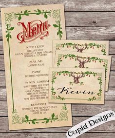 A personal favorite from my Etsy shop https://www.etsy.com/listing/172025322/printable-christmas-menu-and-6-place