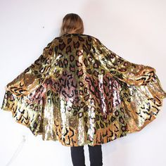 gold leopard sequin jacket