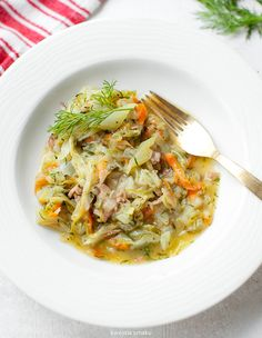 Bigos With Young Sprouts Lunches And Dinners, Meals, Potato Rice, Polish Recipes, Polish Food, Dinner Recipes, Food And Drink, Veggies, Cooking Recipes