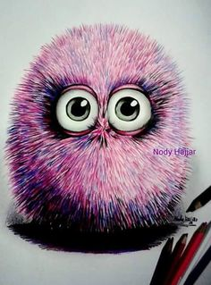 Facebook Color Pencil Sketch, Colored Pencils, Random Things, Art Projects, Street Art, Fonts, Owl, Bird, Facebook
