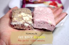 Homemade Quest-Inspired Protein Bars - low carb, sugar-free, gluten-free.  | BusyButHealthy.com