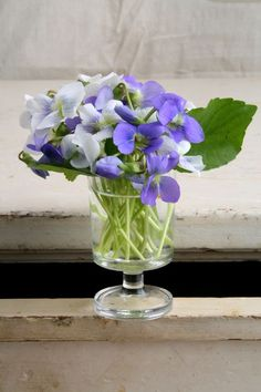 Sweet Violets May Day Beltane Flowers Bouquet