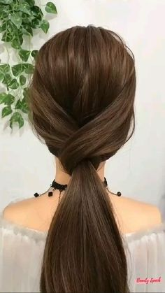 Easy Hairstyles For Long Hair, Up Hairstyles, Pretty Hairstyles, Hairstyles For Christmas, Easy Ponytail Hairstyles, Side Ponytails, Heatless Hairstyles, Wedding Hairstyles For Long Hair, Updo