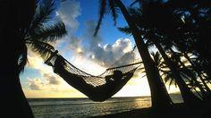 Sleep on a hammock