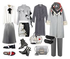 Total grey by karina-bulgakova on Polyvore featuring polyvore, fashion, style, Anouki, WithChic, MANGO, Victoria, Victoria Beckham, Faith Connexion, Miss Selfridge, Thom Browne, Dolce&Gabbana, Alexander McQueen, BeckSöndergaard and clothing