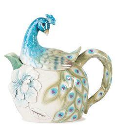 one of my favorite things:) edie rose peacock teapot.