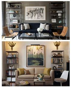 Living room - dual bookcases