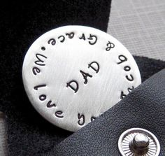 Gifts for dad  GOLF BALL MARKER with key chain  by jcjewelrydesign