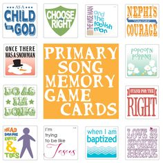 susan fitch design: Primary Song Memory Game Cards