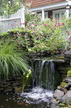 Landscape waterfall feature design
