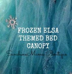 READY TO SHIP Frozen Elsa themed bed by SunshineMamaBoutique, $42.00