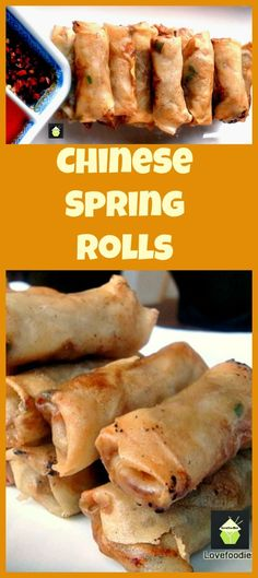 Chinese Spring Rolls - Great authentic taste and easy to follow instructions. Suggestions for chicken, vegetarian or pork fillings. You choose! | Lovefoodies.com Chinese New Year