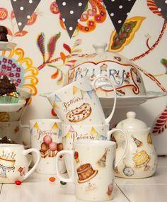 Birthday mugs, etc. Autumn Tea, Birthday Mug, Breakfast Tea, Coffee Corner, Tea Time, Tea Party, Tea Cups, Hand Painted, House Design