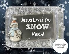 Jesus Loves You Snow Much! Free Bible Lesson Task Cards for Upper Elementary  The questions, as with all of my task cards, have the children digging right into Scripture to find the answers. This builds their skill in using the Bible, and promotes careful reading of the verses.