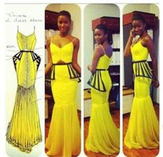 This African dress is sick...I really don't see anything African in this but it is hot!
