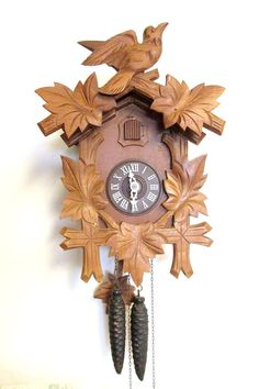 Vintage Wooden Cuckoo Clock with a Regula by CreekLifeTreasures