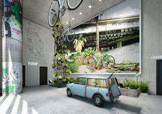 Un loft de verdure au coeur de Berlin BIKINI HOTEL