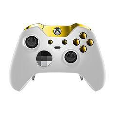 Xbox One Elite Controller - White Velvet & Gold Edition.