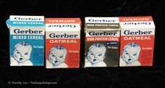 Lot of empty cereal boxes. Vg, has some age and wear. Includes: Mixed Cereal, Oatmeal and High Protein Cereal. Sold as lot only. Vintage Dolls, Retro Vintage, Vintage Kids, Vintage Stuff, Gerber Baby, Old Toys, Children's Toys, Baby Cereal, Baby Mine